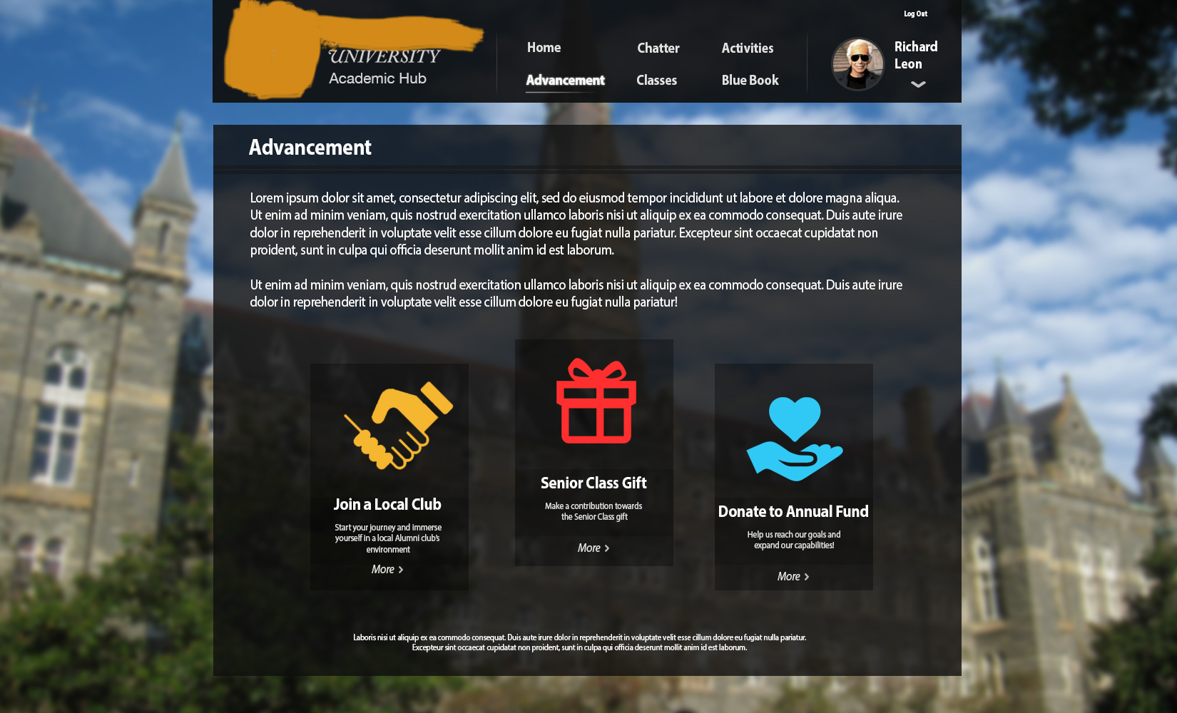 Edu Heuristic UI Advancement Page